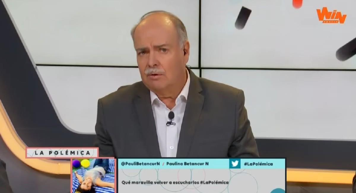 Iván Mejía mostró su molestia con el Gobierno por el plan de vacunación contra la COVID-19. Foto: Twitter @WinSportsTV