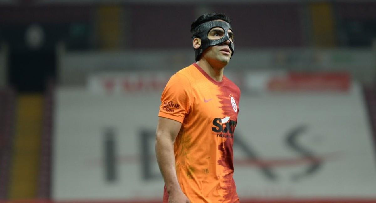 Falcao García en el partido ante Konyaspor. Foto: Twitter @GalatasaraySK