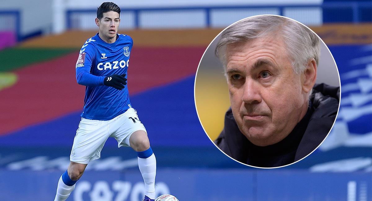 James Rodríguez es una de las fichas clave del Everton de Carlo Ancelotti. Foto: Twitter @EvertonESP