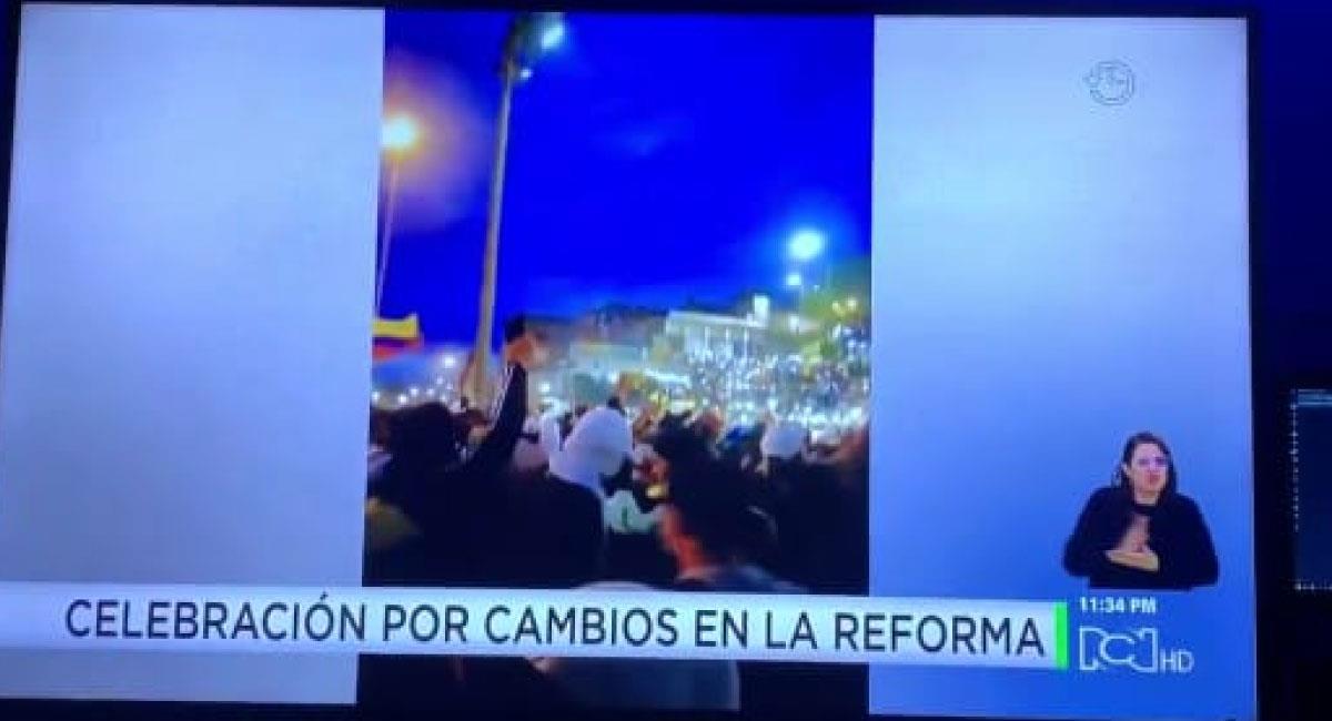 Captura de pantalla del titular de Noticias RCN. Foto: Twitter @AquinoTicias1