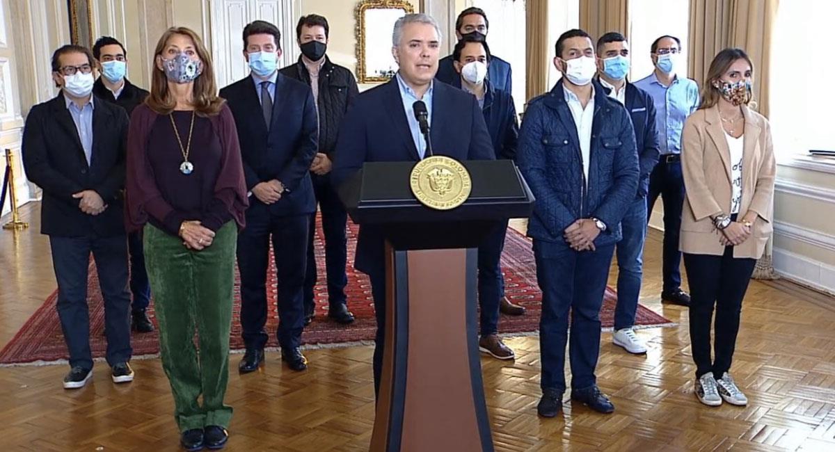 Presidente Duque solicita retirar la Reforma Tributaria. Foto: Twitter @infopresidencia