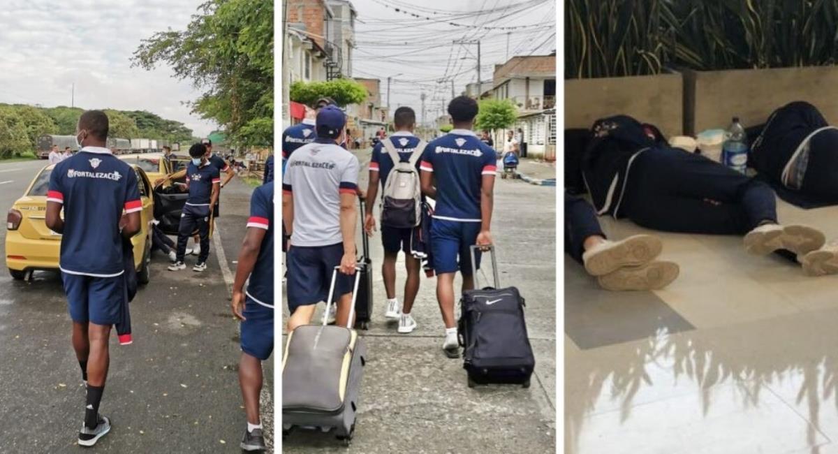 Así fue la travesía que vivió Fortaleza. Foto: Twitter Prensa redes Fortaleza.