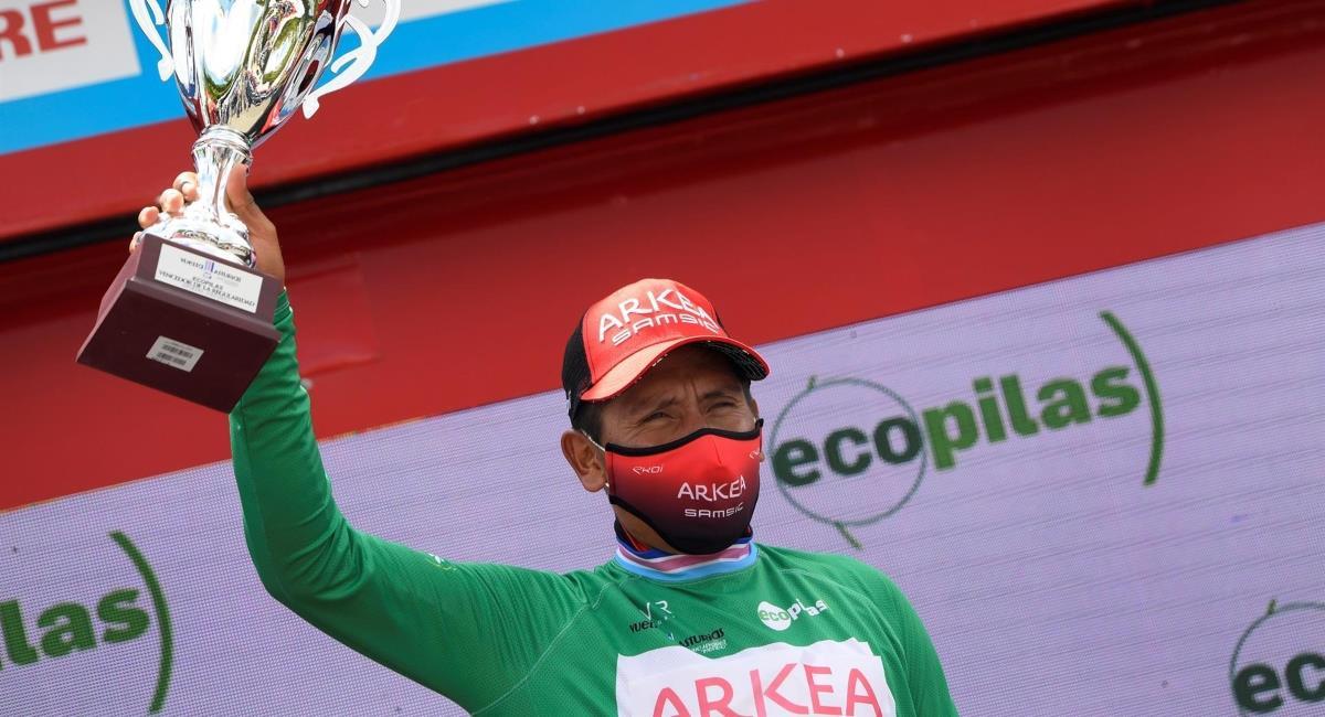 Nairo campeón de la Vuelta a Asturias. Foto: EFE