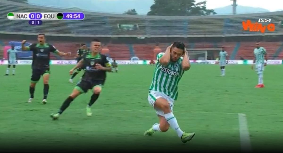 Equidad eliminó a Nacional. Foto: Twitter Captura pantalla Win Sports.
