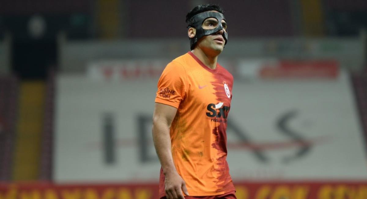 Galatasaray ganó con Falcao en cancha. Foto: Twitter Prensa redes Galatasaray.