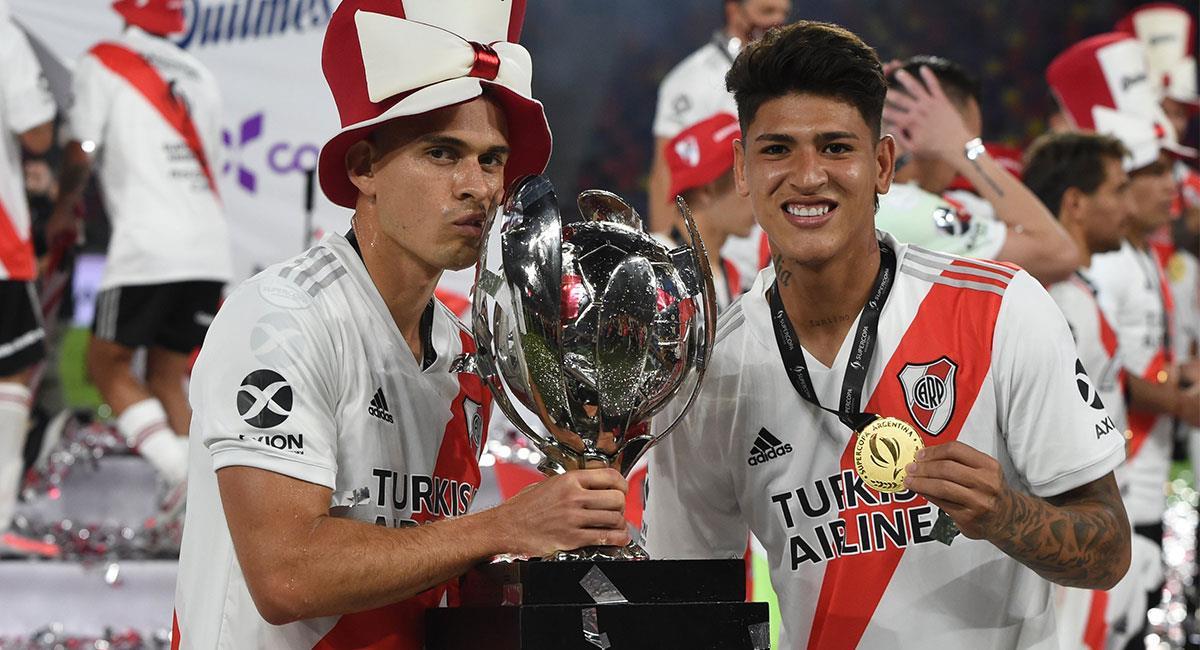 Borré y Carrascal son dos de los señalados tras los malos resultados de River Plate. Foto: Twitter @RiverPlate