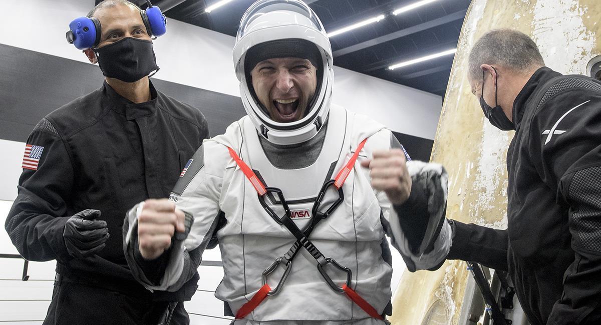 Los astronautas llegaron con éxito en la cápsula Resilience. Foto: Twitter @SpaceX.