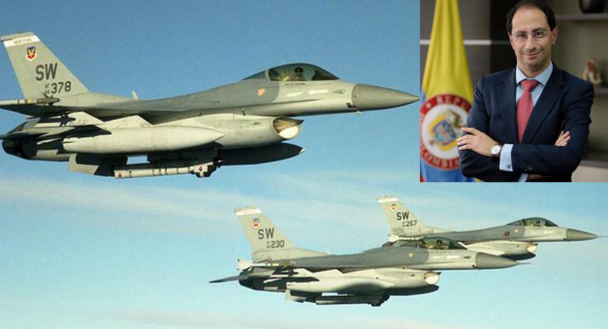 El nuevo ministro de Hacienda, José Manuel Restrepo, anunció que la compra de aviones de combate por parte del gobierno colombiano no es prioritaria. Foto: Twitter @FisicoImpuro / @F16net
