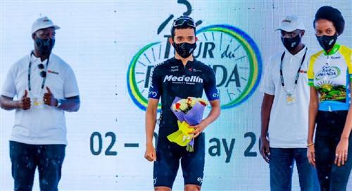 Brayan Sánchez cerca de ser campeón del Tour de Ruanda