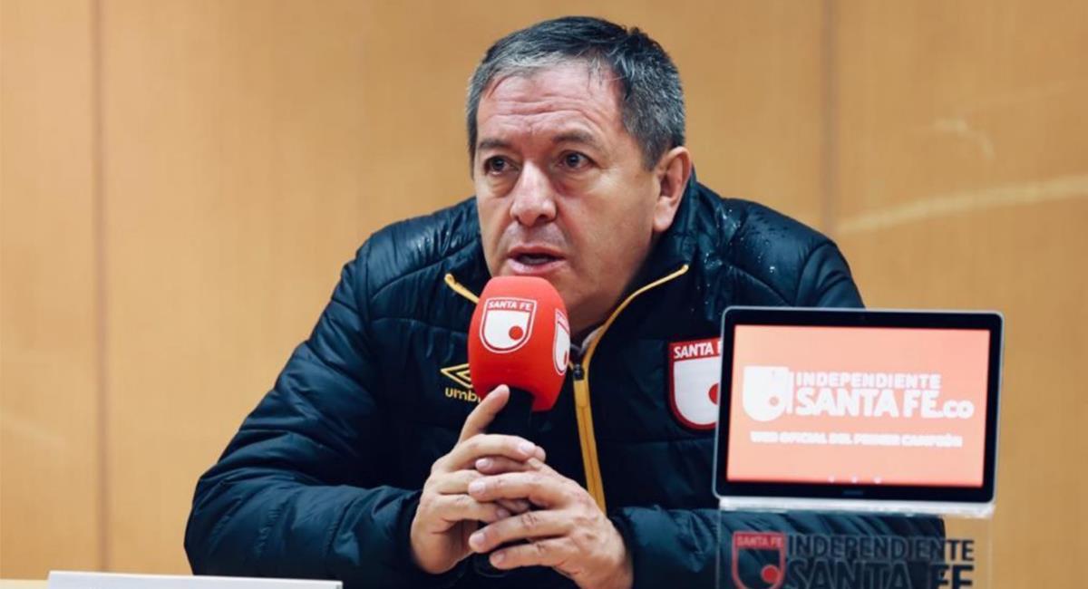 Eduardo Méndez propuso jugar el partido entre Santa Fe y River Plate en Ecuador. Foto: Twitter @SantaFe