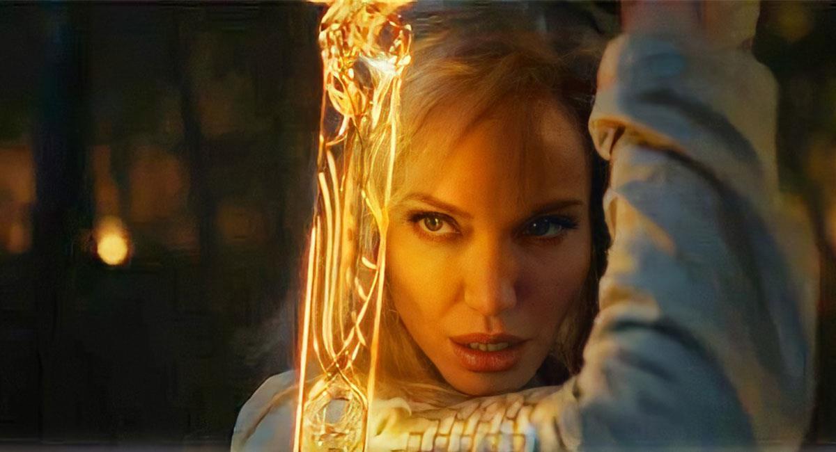 "Así lucirá Angelina Jolie en ""Eternals"", de Marvel Studios. Foto: Youtube Captura Marvel Latinoamérica Oficial"