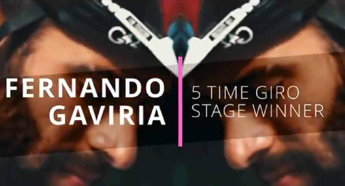 Fernando Gaviria presente en el Giro de Italia 2021. Foto: Twitter @TeamEmiratesUAE