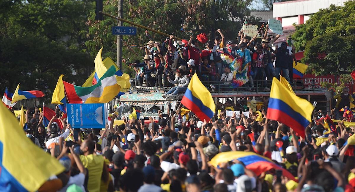 Manifestaciones en Cali han llamado la atención del mundo entero. Foto: EFE