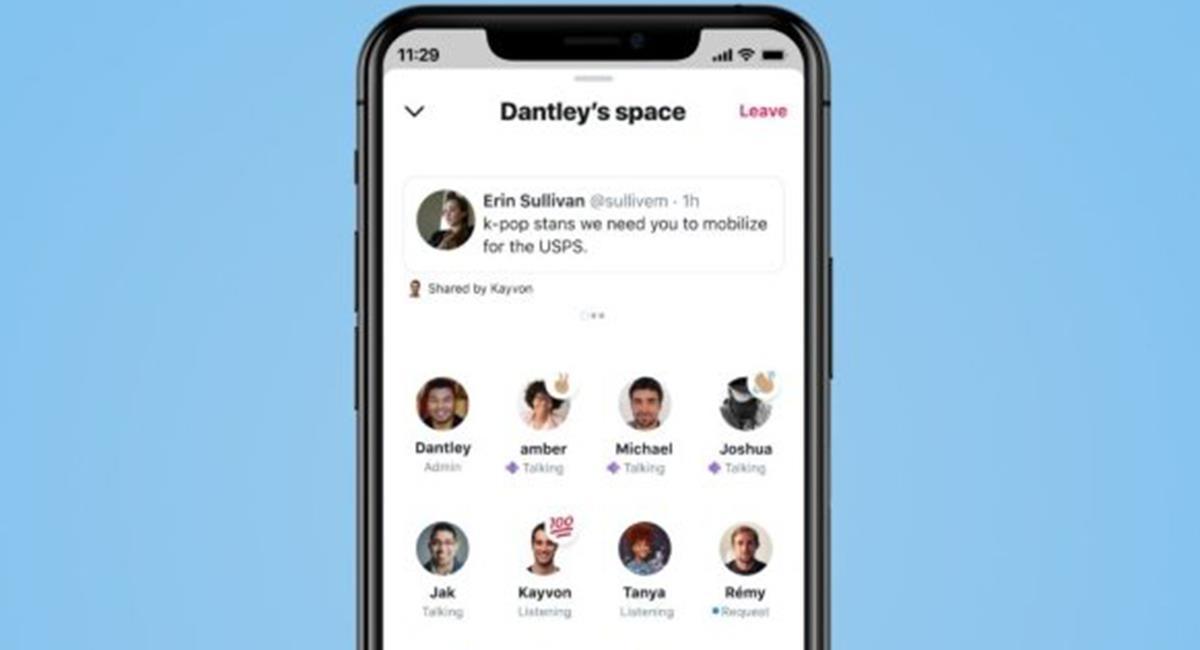 Los 'Espacios' son la alternativa de tener 'chats de voz' con los temas que selecciones. Foto: Twitter