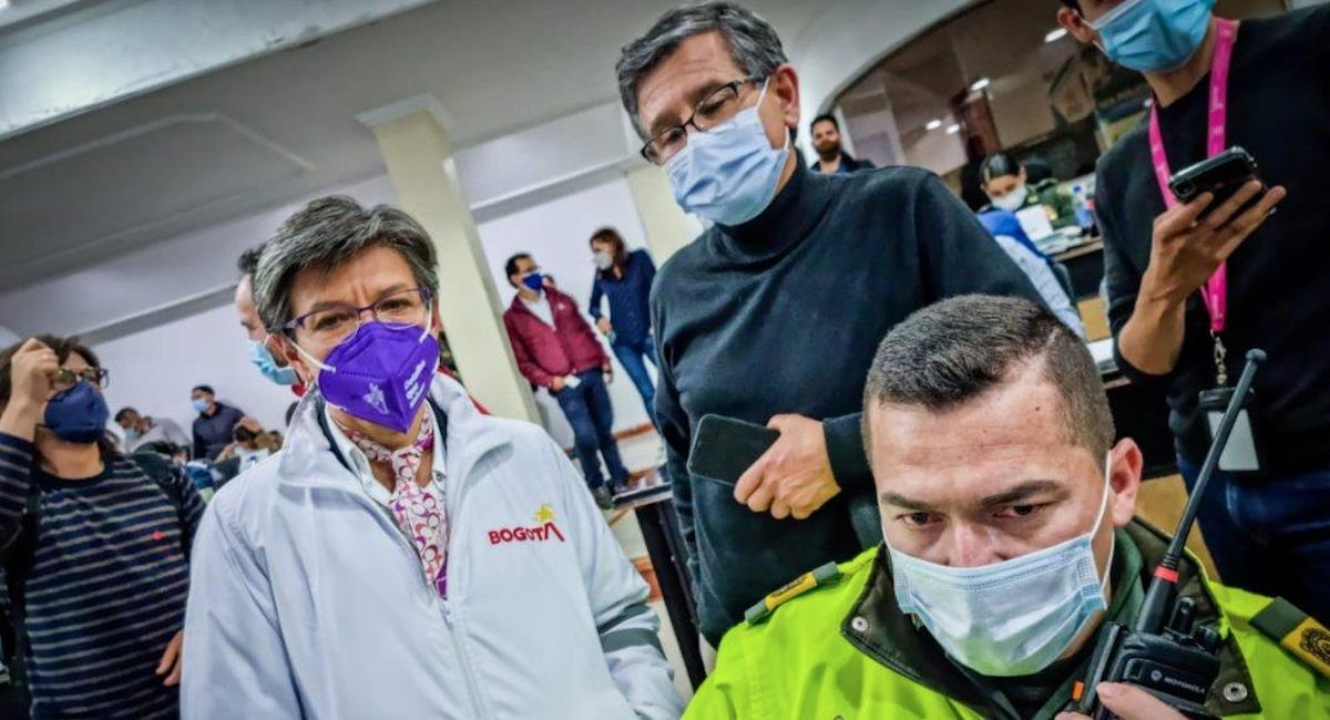 Claudia López asegura que no hay un reporte negativo durante el 5 de mayo. Foto: Alcaldía de Bogotá