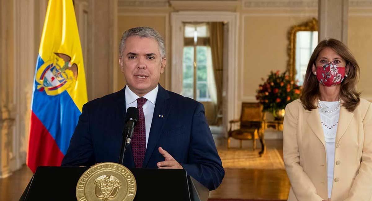 Iván Duque, junto con la vicepresidenta Marta Lucía Ramírez. Foto: Presidencia Colombia