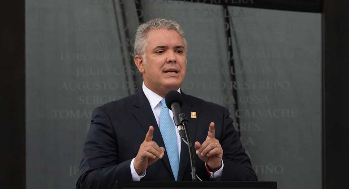 Duque ofrece recompensas por información sobre involucrados en actos de vandalismo. Foto: Presidencia de Colombia