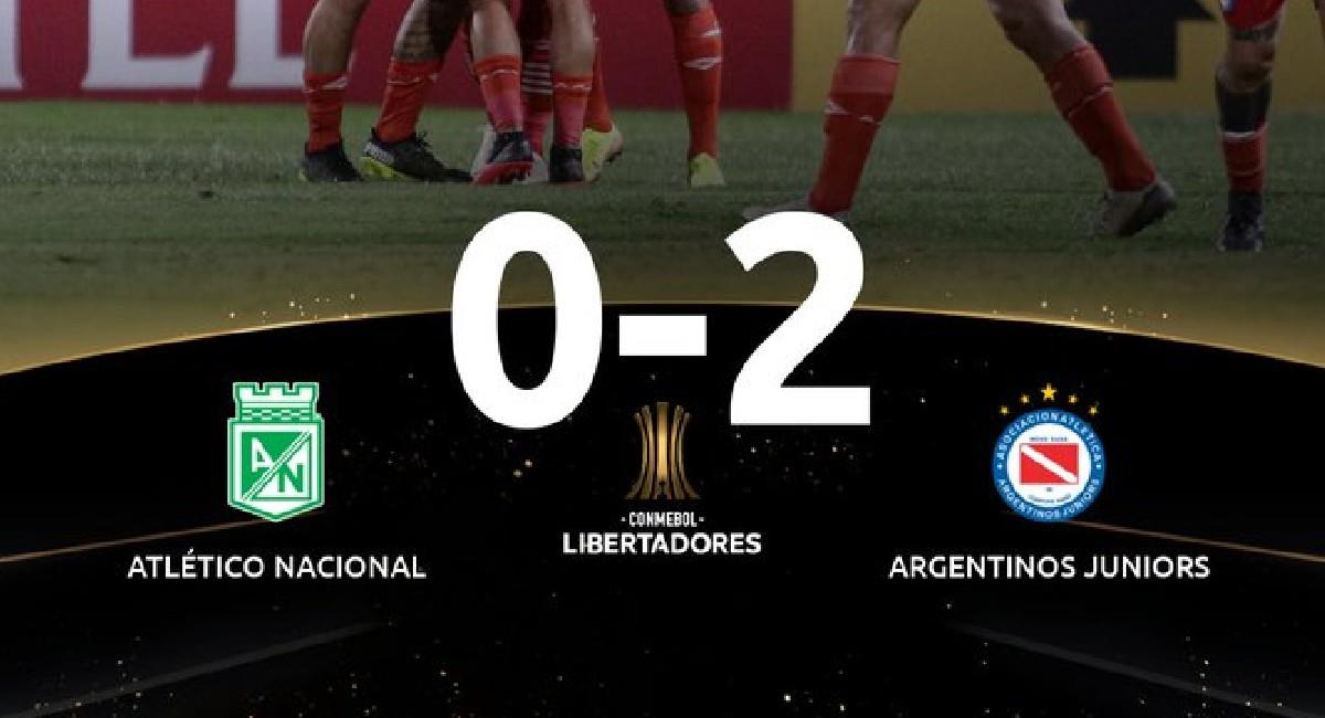 Atlético Nacional cayó ante Argentinos Juniors por Copa Conmebol Libertadores. Foto: Twitter @Libertadores