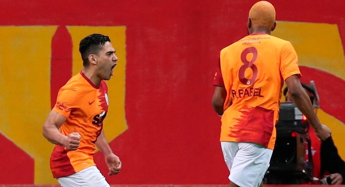 Falcao celebra su gol ante Besiktas. Foto: EFE