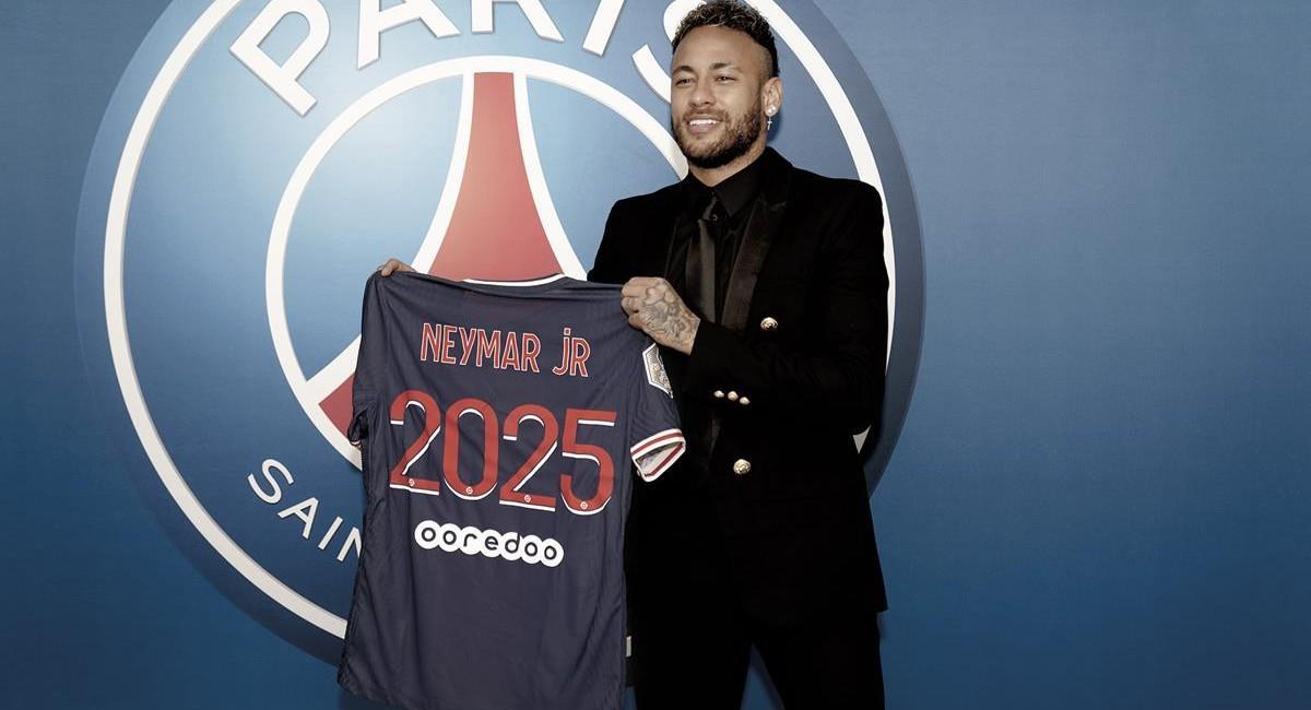 Neymar estará con París Saint Germain hasta 2025. Foto: Twitter @PSG_espanol