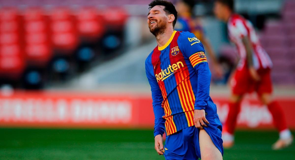 Lionel Messi en el partido ante Atlético de Madrid. Foto: EFE