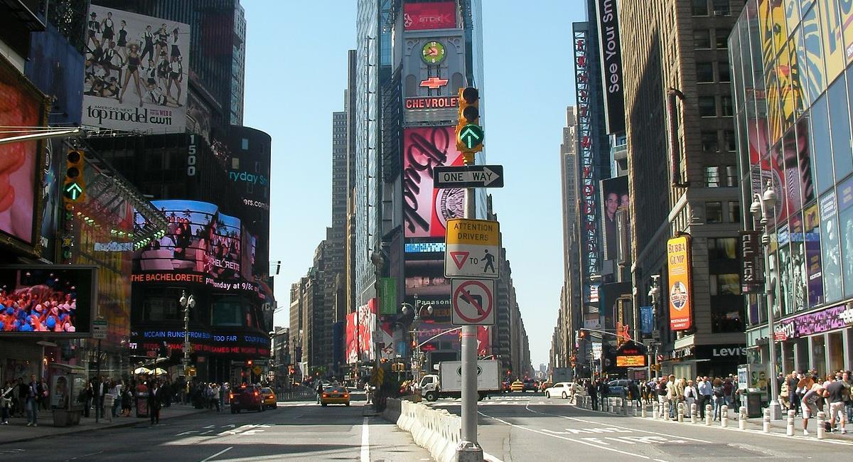 Nueva York vacunará a los turistas extranjeros y para ello ha dispuesto puntos de vacunación en diferentes lugares de la ciudad, uno de ellos es Time Square. Foto: Pixabay