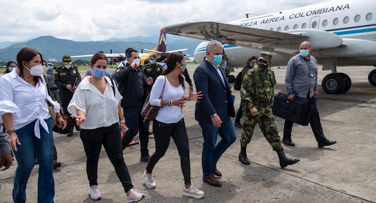 Duque viaja de nuevo a Cali para buscar una salida a la crisis. Foto: EFE