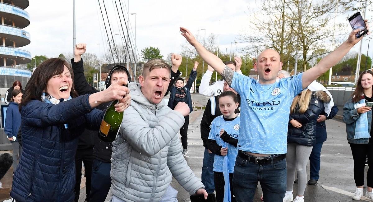 Manchester City se corona campeón de la Premier League. Foto: EFE