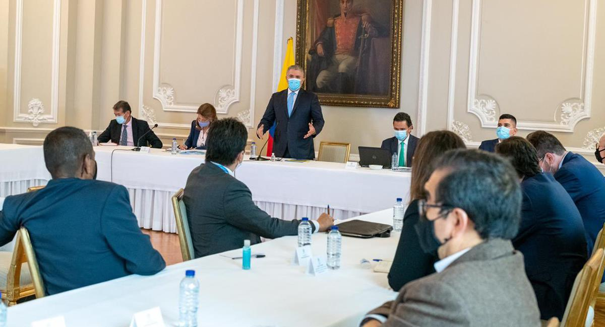 No hubo acuerdo entre el Gobierno y el Comité del Paro: habrá nueva movilización. Foto: Twitter @IvanDuque