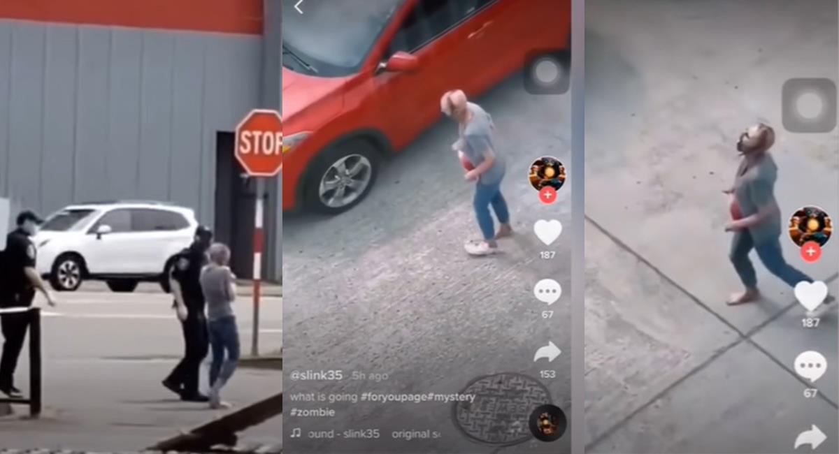 La mujer deambulaba en las calles, con heridas y gritaba. Foto: Youtube