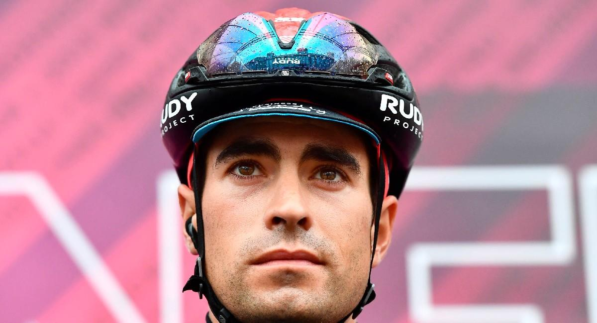 Mikel Landa sufrió una dura caída en el Giro de Italia. Foto: EFE