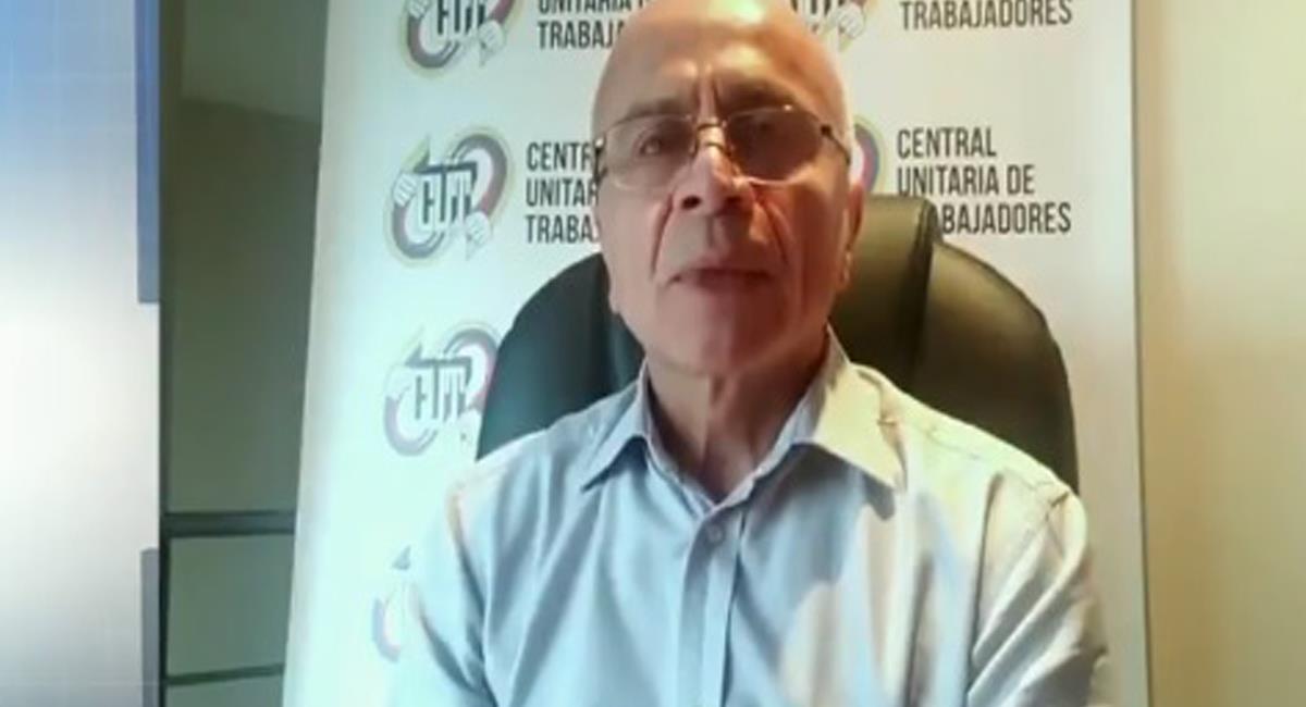Francisco Maltés, presidente de la CUT ratificó el deseo del Comité Nacional del Paro de querer negociar con el gobierno de Iván Duque. Foto: Twitter @AtlanticoEmi