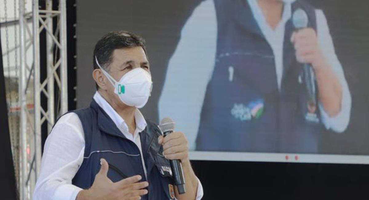 El alcalde de Cali, Jorge Iván Ospina, recibió palabras de desacuerdo en la mesa de diálogo por sus acciones durante las jornadas de manifestaciones del Paro Nacional. Foto: Twitter @AlcaldiaDeCali