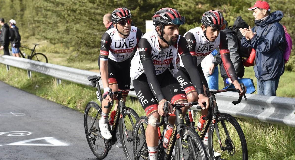 Sigue EN VIVO la etapa 7 del Giro de Italia. Foto: Twitter @TeamEmiratesUAE