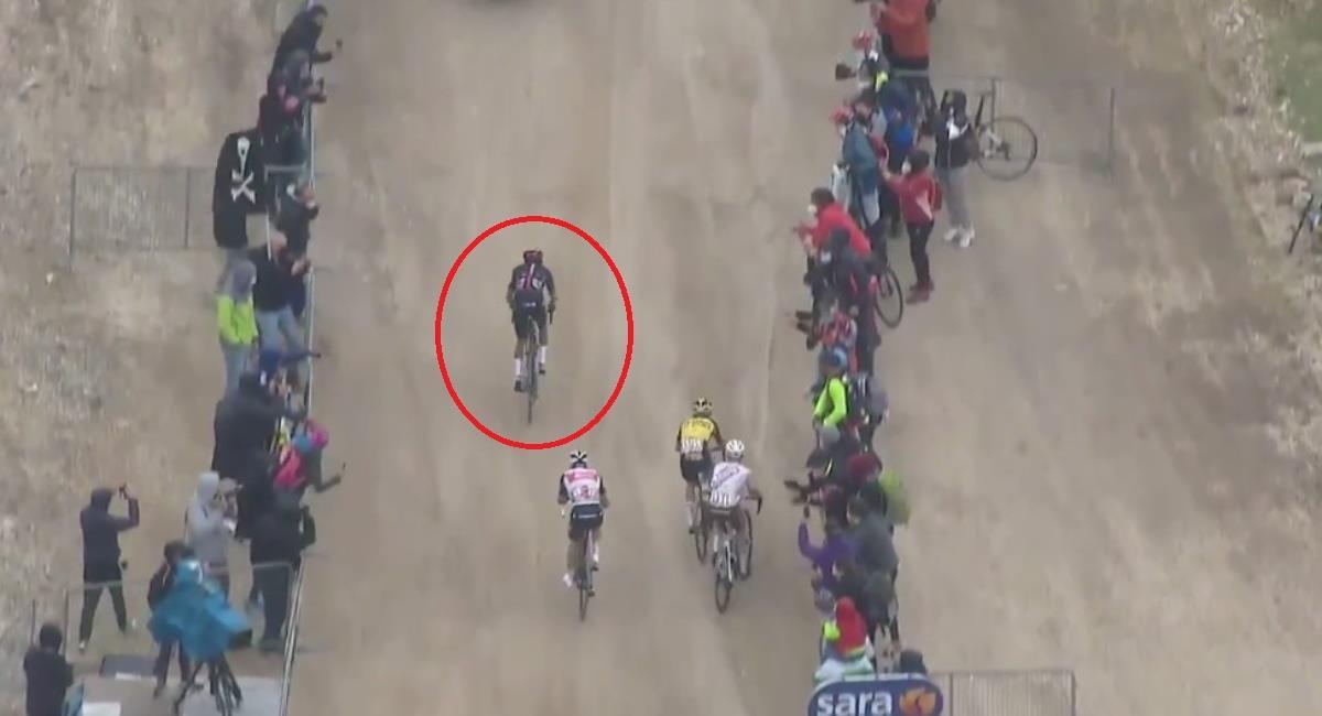 Así fue la escapada y la victoria de Egan Bernal. Foto: Twitter Prensa redes Giro de Italia.
