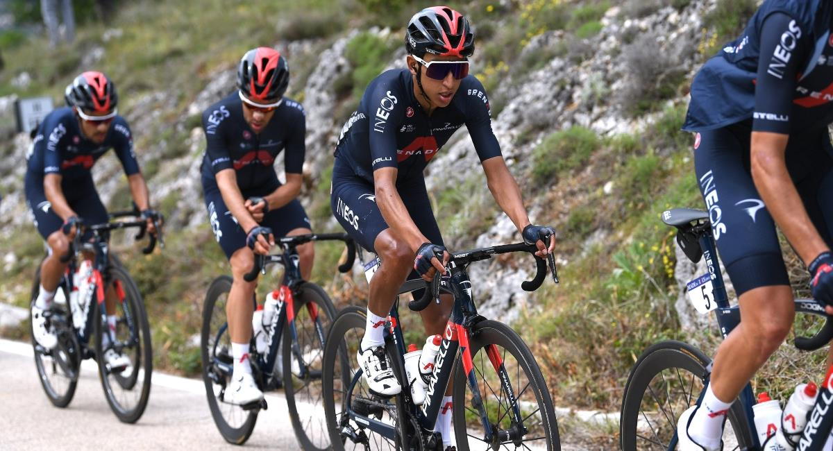 Egan Bernal líder en el Giro de Italia. Foto: Twitter Prensa redes Team Ineos.