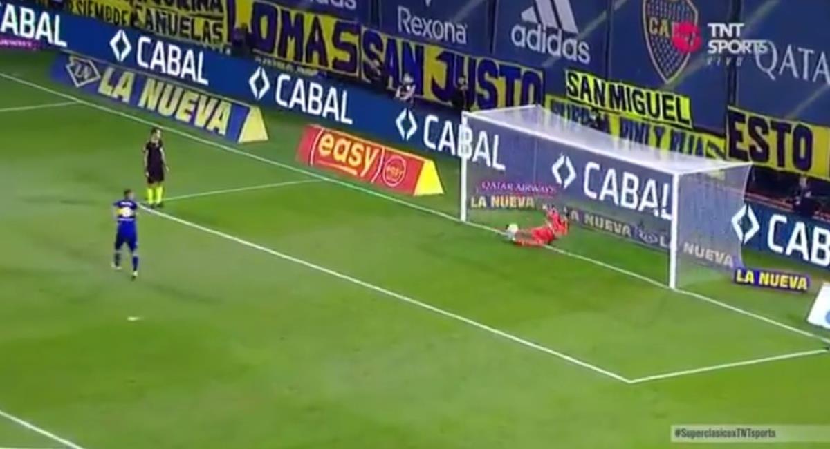Boca Juniors eliminó a River Plate. Foto: Twitter Captura pantalla TNT Sports.