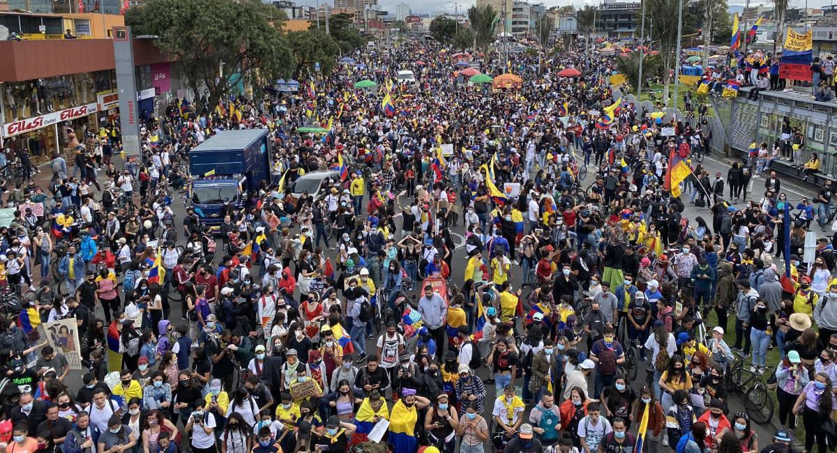 Paro Nacional en Colombia. Foto: Twitter @MrOlmos
