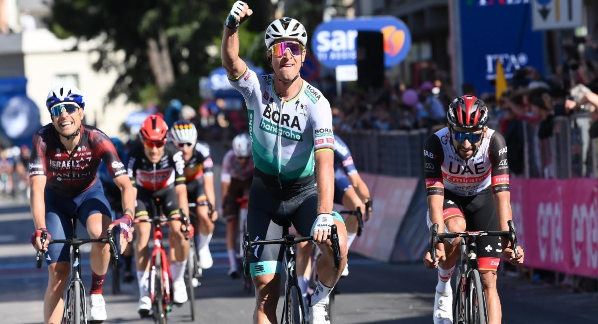 Peter Sagan gana la etapa 10 del Giro de Italia. Foto: Twitter Prensa redes Giro de Italia.