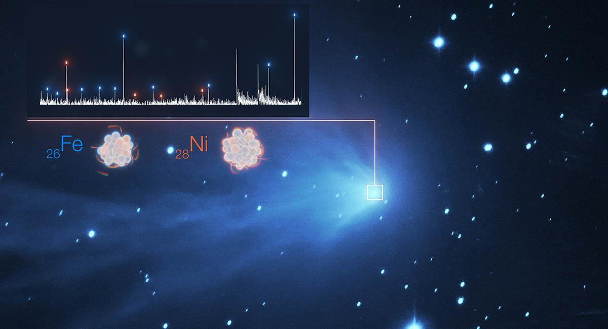 """El cometa 2I/Borisov es """"frío"""" y aún así emite vapores con metales pesados. Foto: EFE"""