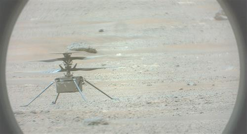 La NASA comparte imágenes tomadas por el 'Ingenuity' en un sobrevuelo