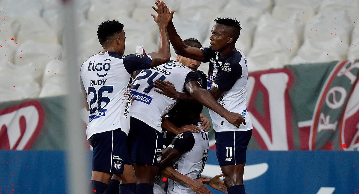 Junior de Barranquilla dio la sorpresa en el Maracaná de Río de Janeiro y venció dos goles a uno al Fluminense de Brasil por el grupo D de la Copa Conmebol Libertadores. Foto: Twitter @JuniorClubSA