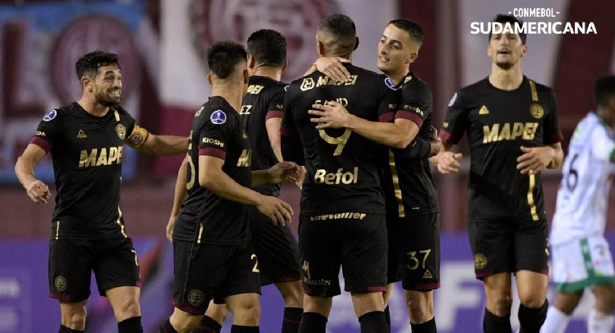 La Equidad fue goleado por Lanús 4-1 en Sudamericana. Foto: Twitter @Sudamericana