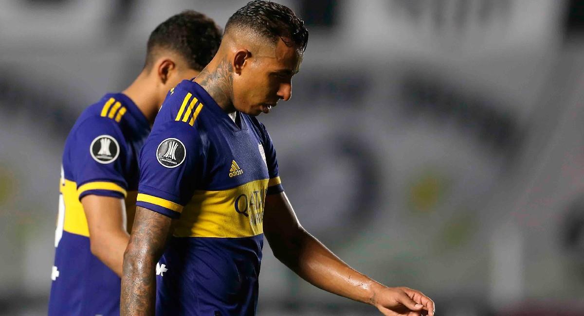 Sebastián Villa, jugador de Boca Juniors. Foto: EFE
