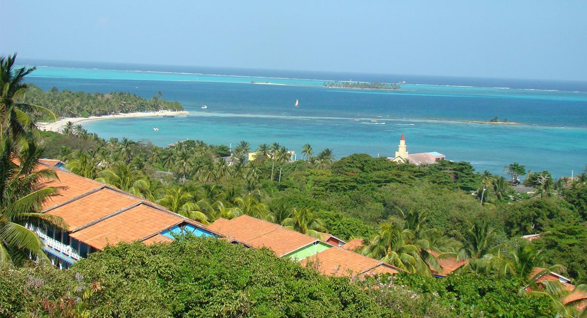 La vista desde el Jardín Botánico de San Andrés es espectacular. Foto: Twitter @Kenymar019