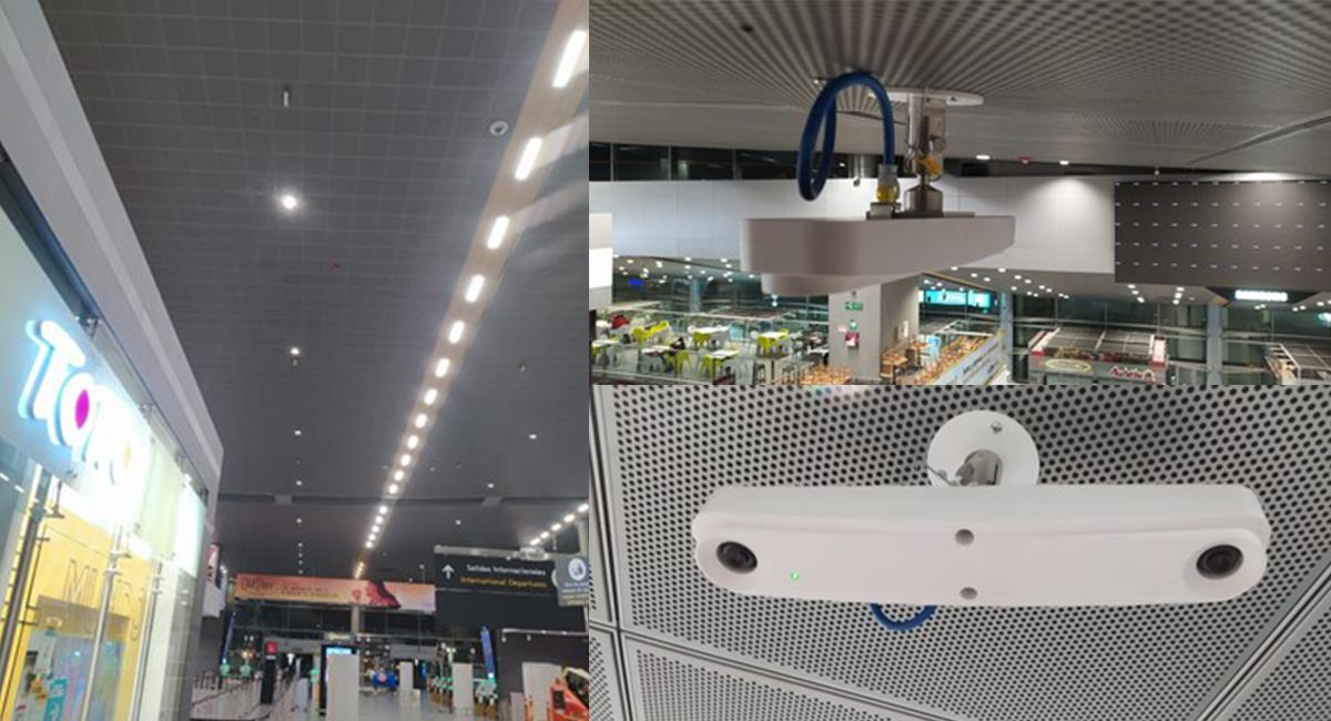 Los espacios serán controlados por estos dispositivos, que contabilizarán los aforos. Foto: Modum