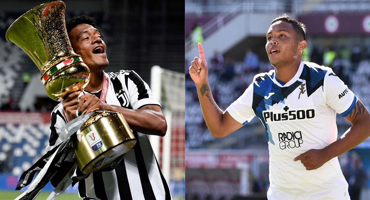 Cuadrado y Muriel fueron escogidos entre los mejores jugadores de la Serie A. Foto: Twitter @juventusfces y @Atalanta_BC
