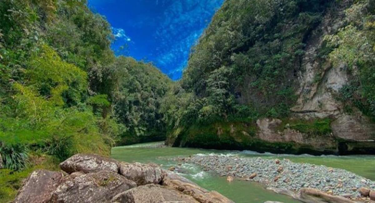 La erosión natural del Cañón generó bellas formaciones 'rocosas' dignas de admirar. Foto: Twitter @GobMeta
