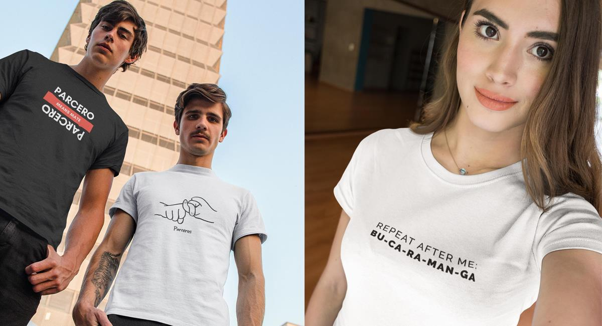 Un colombiano trata de realzar la cultura colombiana en Australia a través de mensajes en sus camisetas. Foto: Facebook LaTshirt