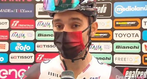"""""""Está difícil ganar la camiseta de puntos"""", Gaviria en el Giro"""
